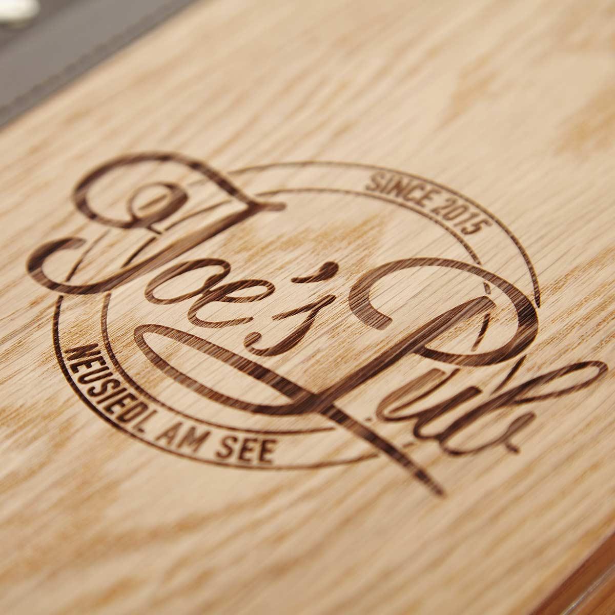 Speisekarten kaufen Gastrotopcard Logo Laser Branding