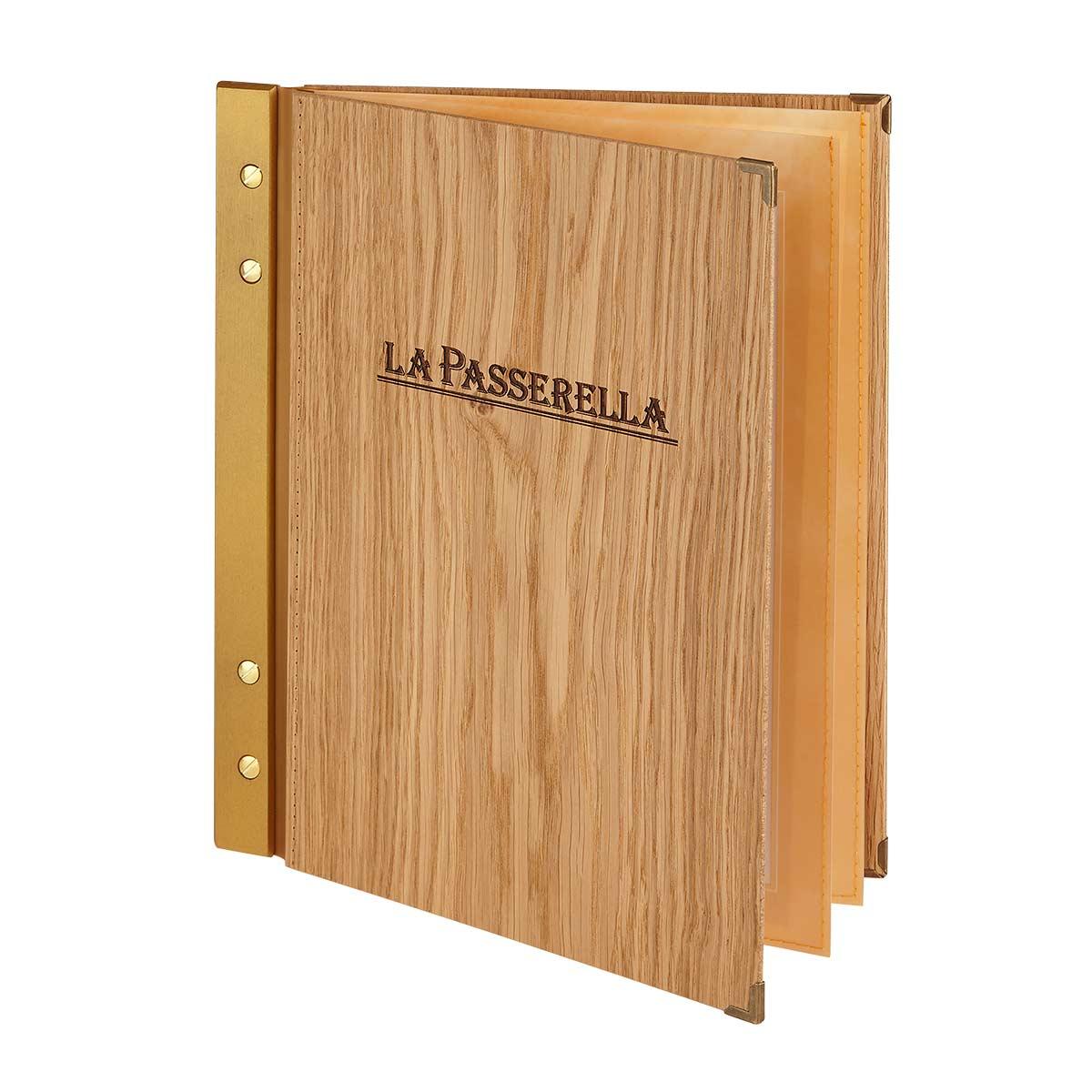 Menucover Wood Branding Gastrotopcard