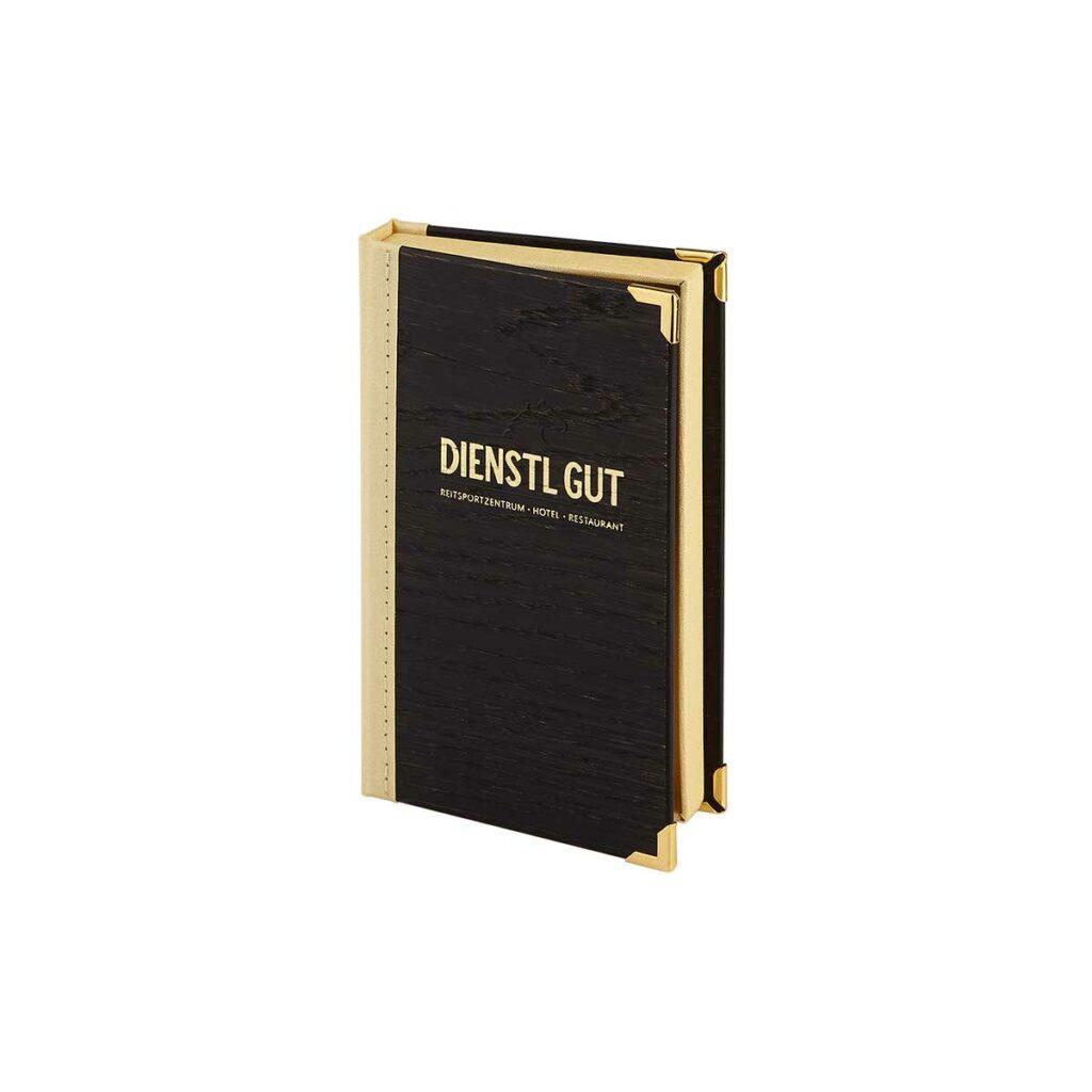 Gastrotopcard Rechnungsmappe Bill Box Woody Eiche in schwarz