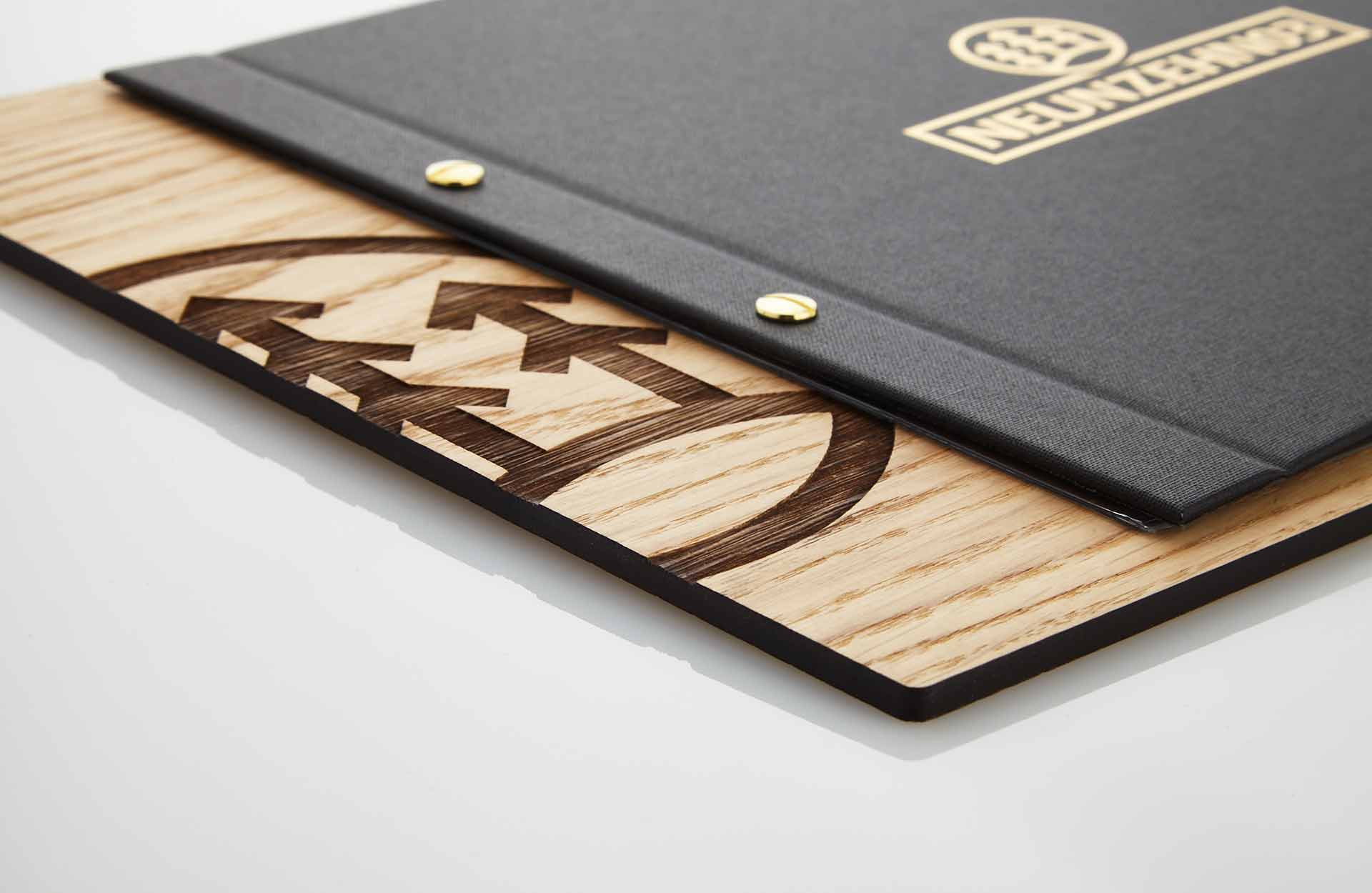 Gastrotopcard Speisekarte Selectboard Eiche mit Medicicover