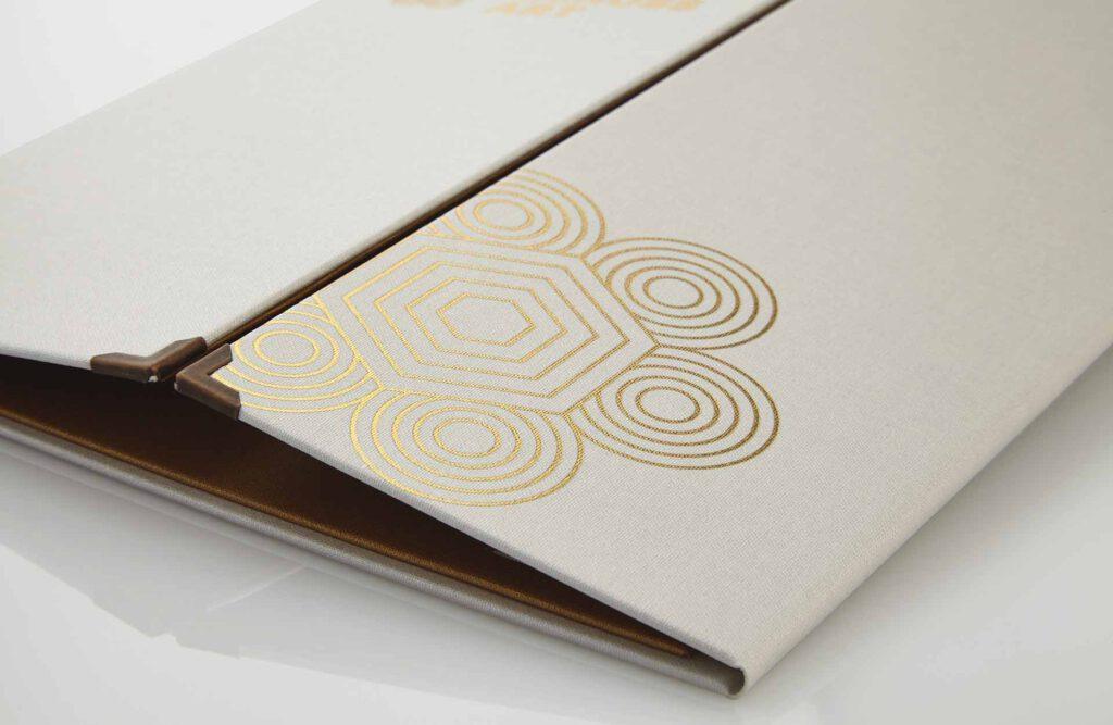 Gastrotopcard Speisekarten Delicard Medici in weiß