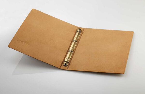 Gastrotopcard Speisekarten Pellino Echtleder mit Ringmechanik